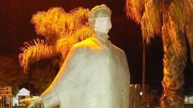 Photo of INTERVINIERON MONUMENTOS PARA CONCIENTIZAR SOBRE EL USO DEL BARBIJO